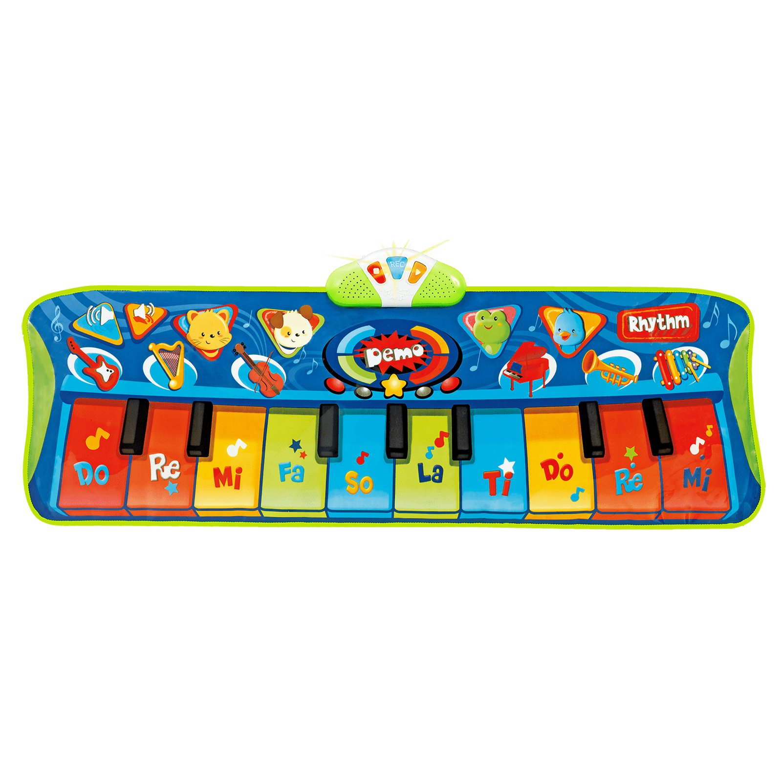 Musical toys winfun steptoplay. Piano clipart green toy