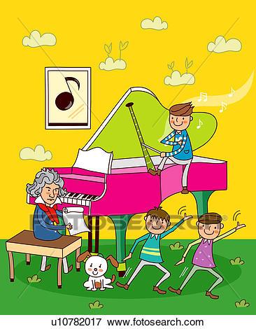 X free clip art. Piano clipart happy