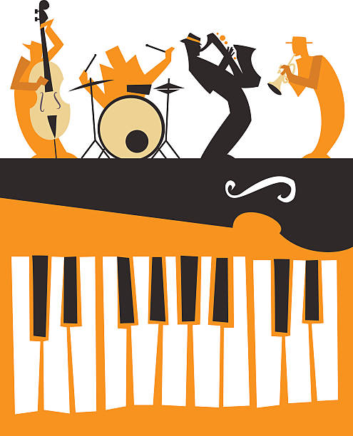 Station . Piano clipart jazz piano