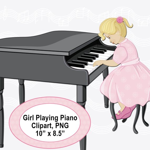 Piano clipart little girl. Pin by etsy on
