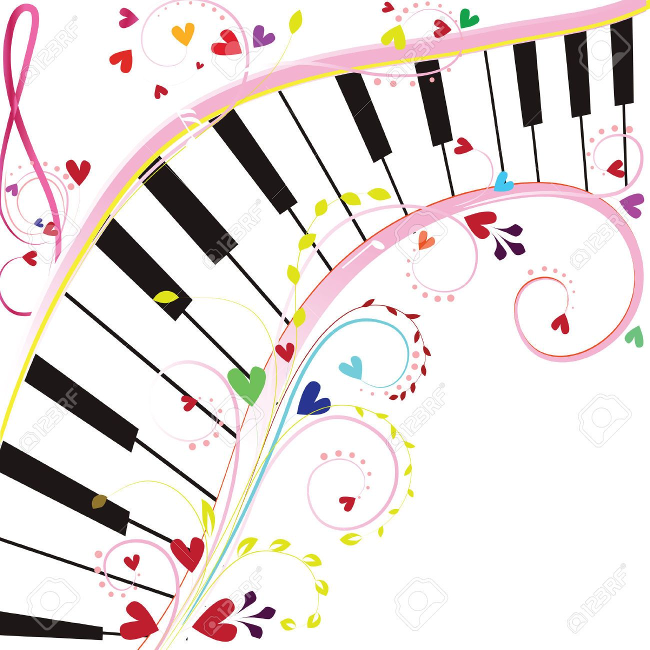 Piano clipart musique. Symbol stock vector illustration
