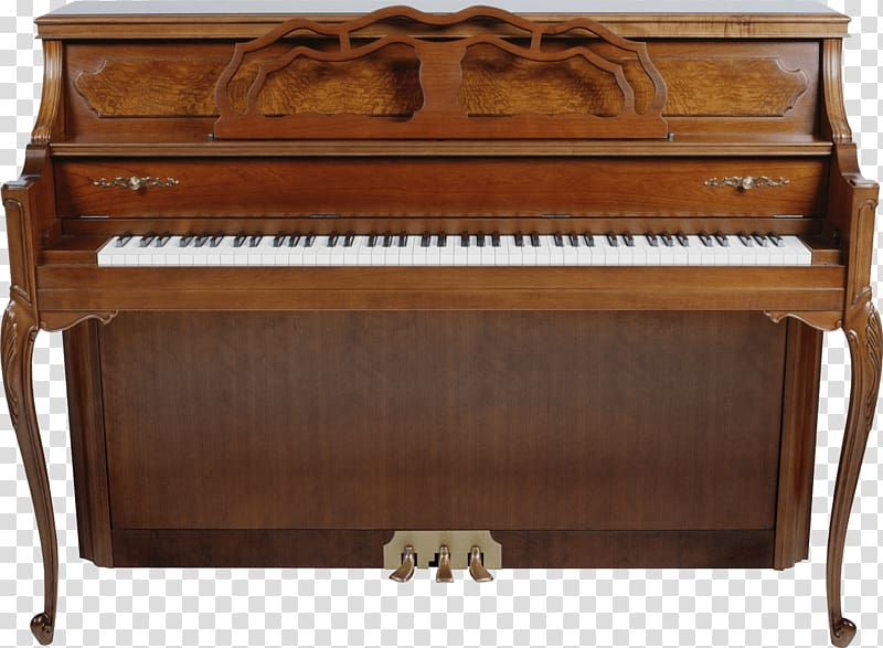 Piano clipart old piano. Brown upright vintage transparent