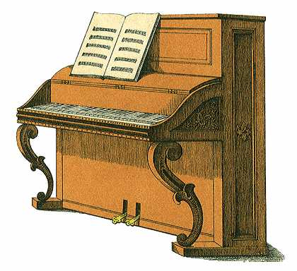Piano clipart old piano. Free upright cliparts download