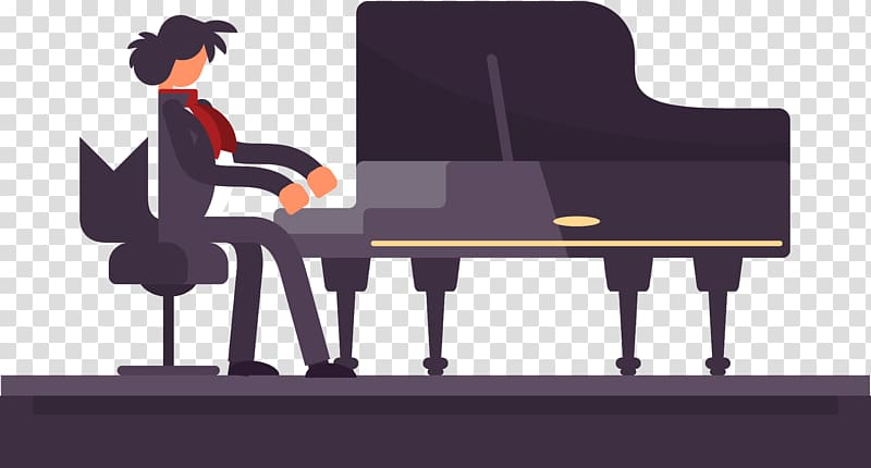 Pianist transparent background png. Piano clipart piano performance