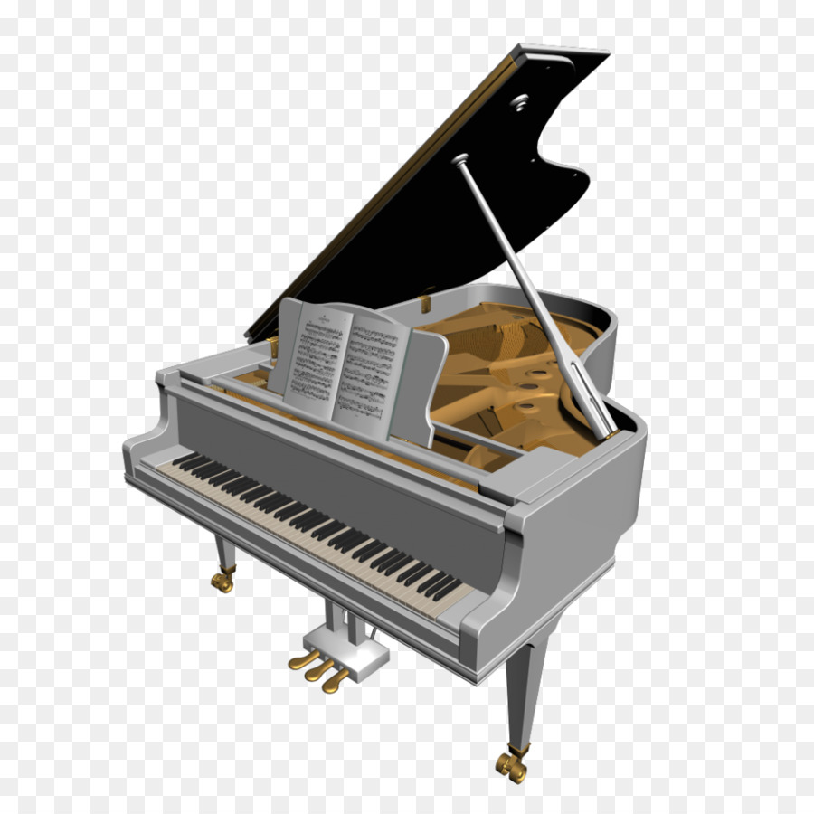 Cartoon keyboard technology . Piano clipart piano player