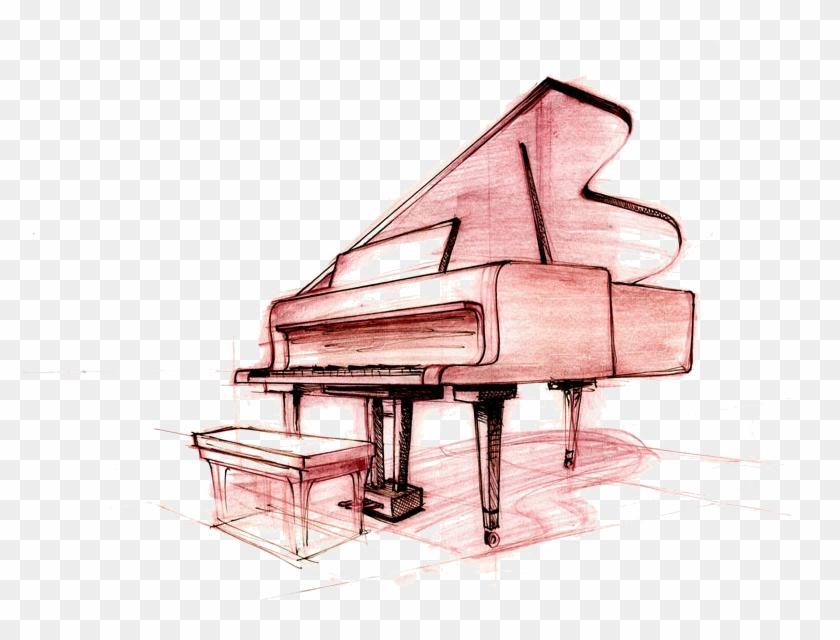 Keys drawing hd png. Piano clipart sketches