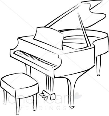 Piano clipart sketches. Baby grand drawing quilling