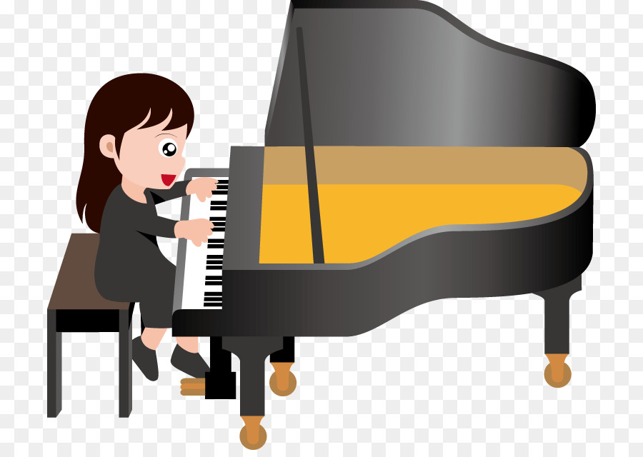 Cartoon keyboard transparent . Piano clipart special music