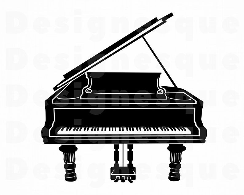 Piano clipart svg. Grand files for cricut