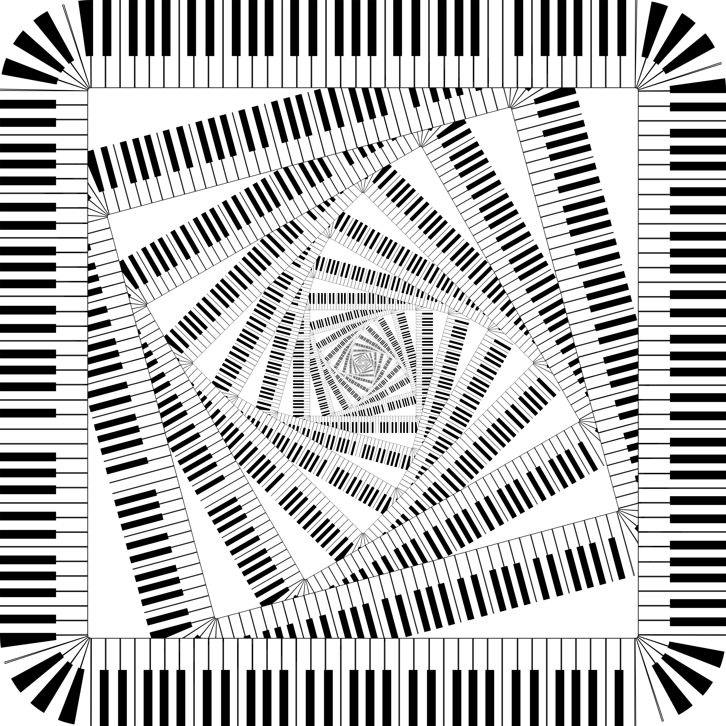 Piano clipart swirl. Keys rounded square vortex