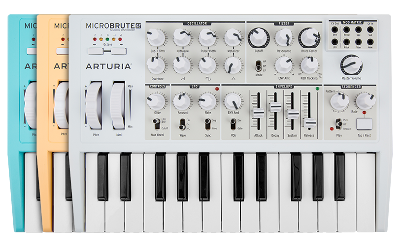 Arturia overview microbrute se. Piano clipart synthesizer