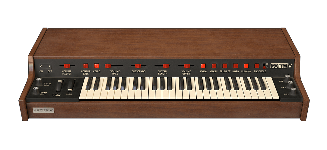Arturia details string machine. Piano clipart synthesizer