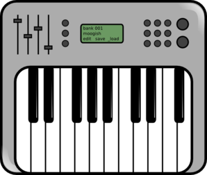 Icon clip art at. Piano clipart synthesizer