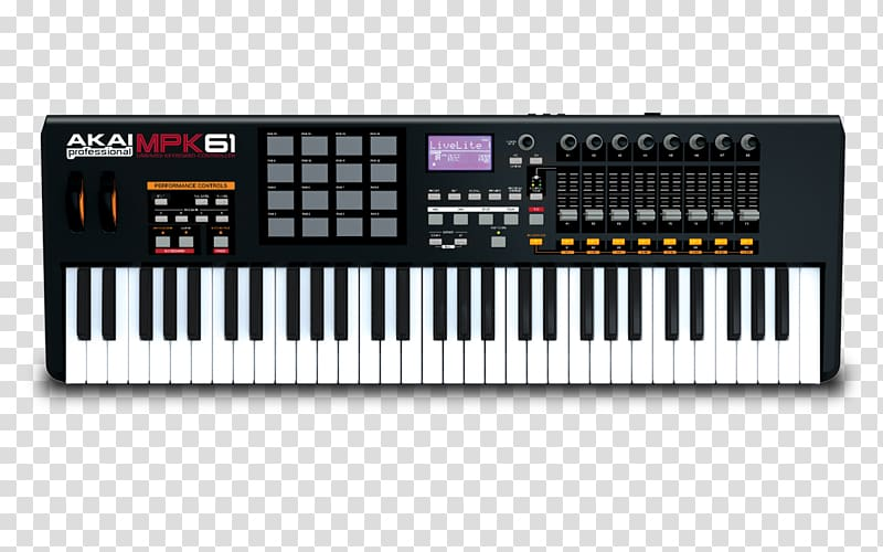 Midi controllers keyboard akai. Piano clipart synthesizer
