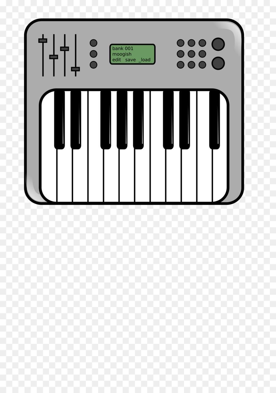 Piano clipart synthesizer. Cartoon keyboard technology