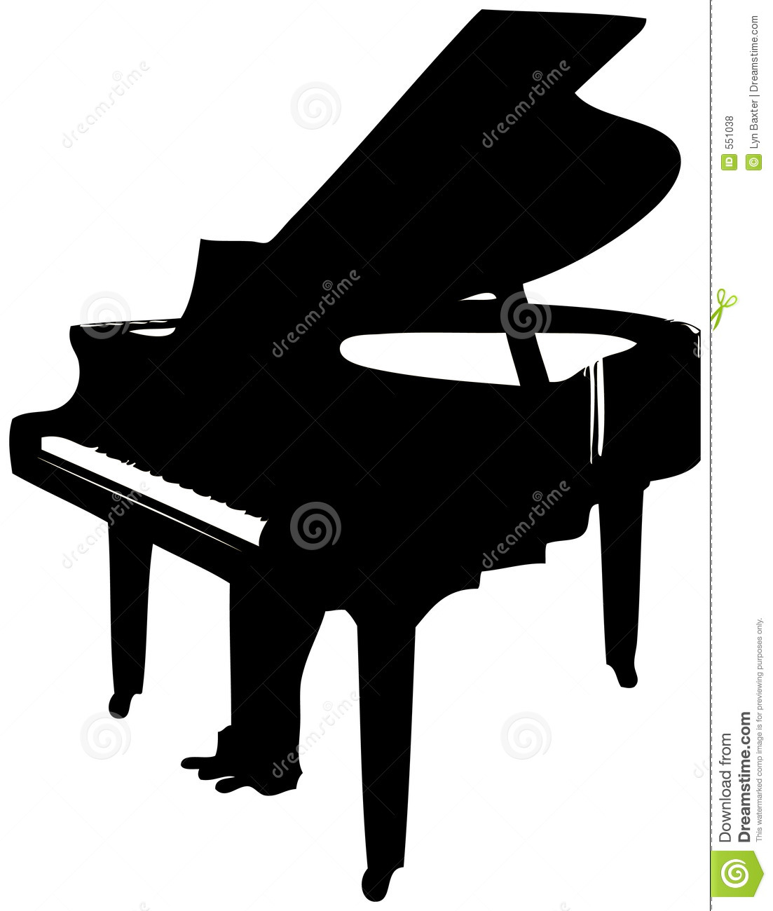 Keyboard black and white. Piano clipart tool