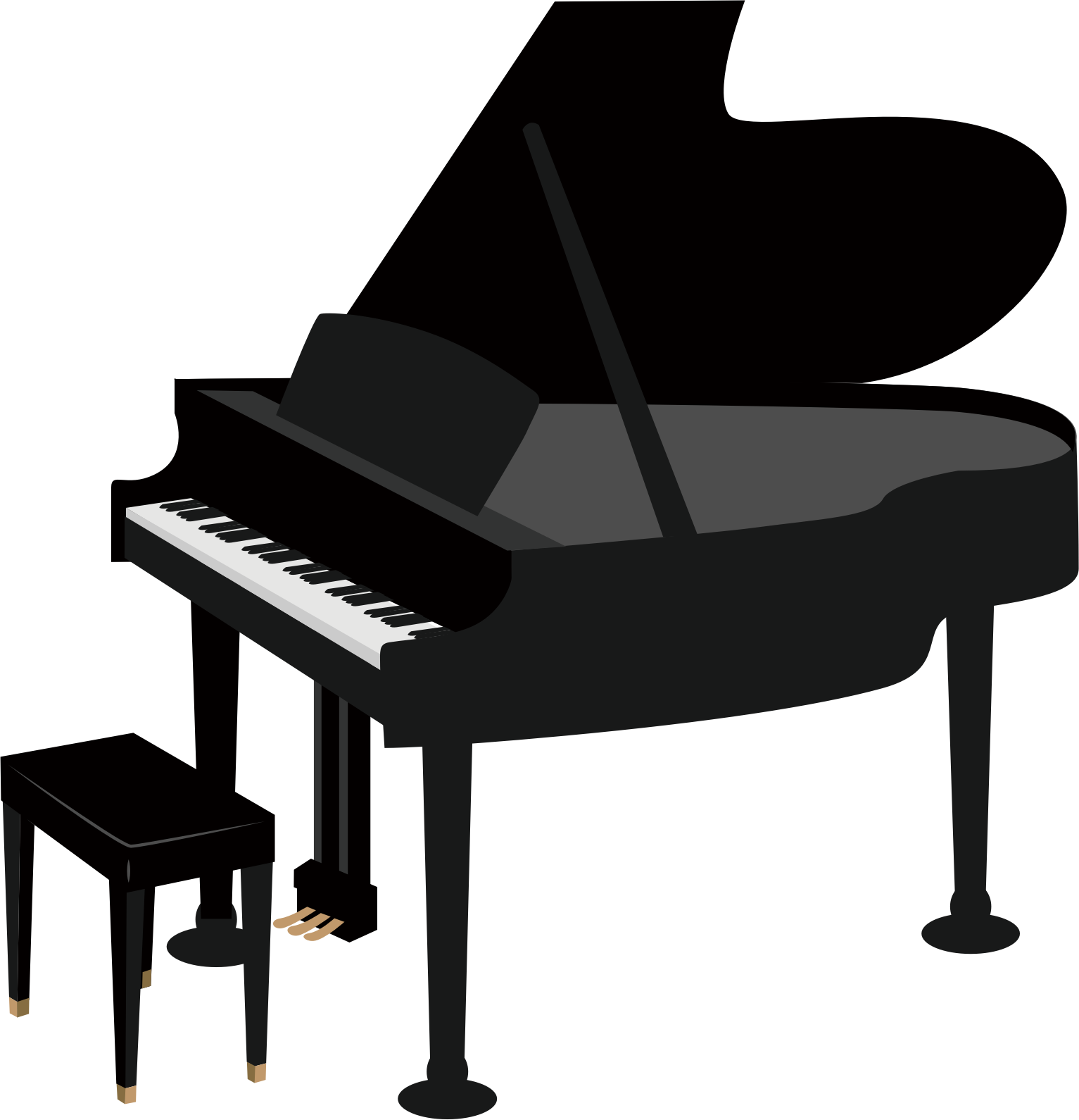 Grand drawing clip art. Piano clipart transparent background