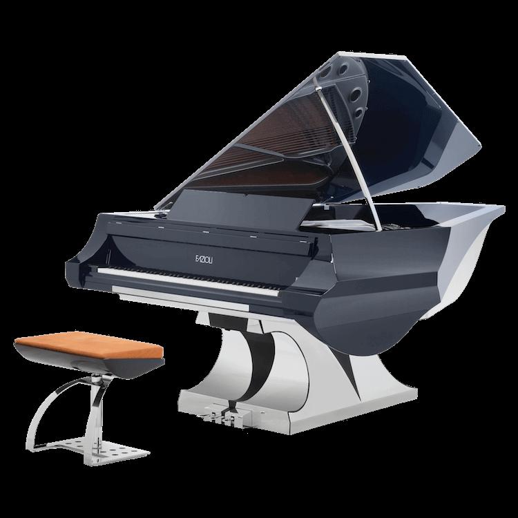 Piano clipart triangle. Uber modern fazioli aria