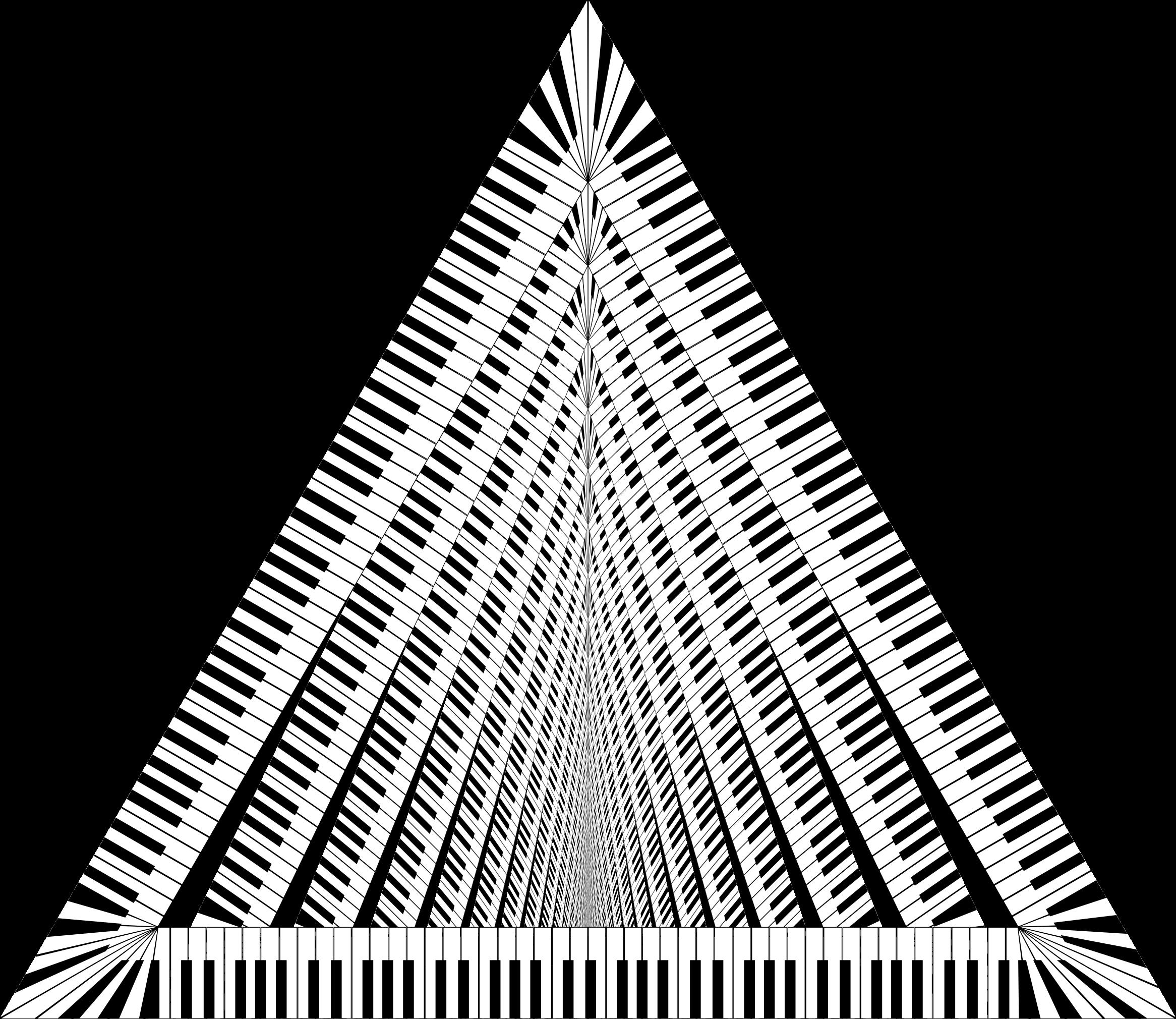 Keys vortex big image. Piano clipart triangle