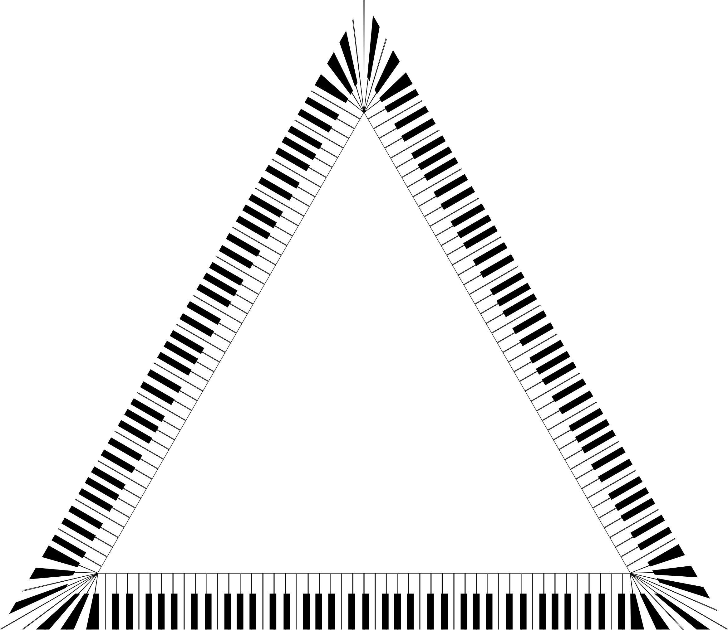 Keys big image png. Piano clipart triangle