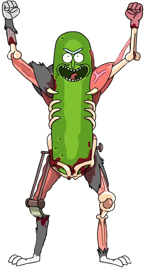 Pickle clipart pixel art. Image rick render by