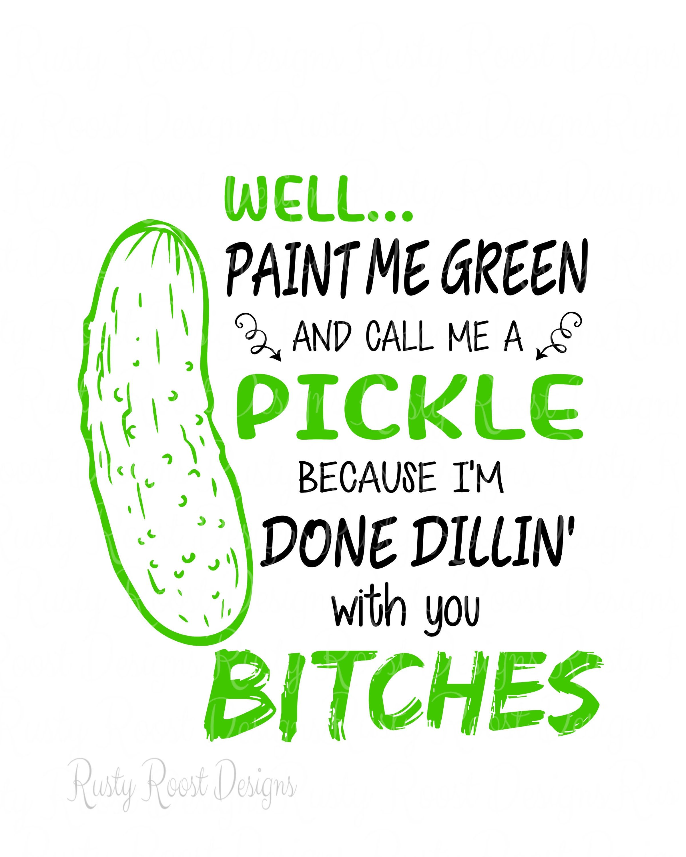 Pickle clipart svg. Paint me green and
