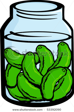 Pickle jar cartoon . Pickles clipart