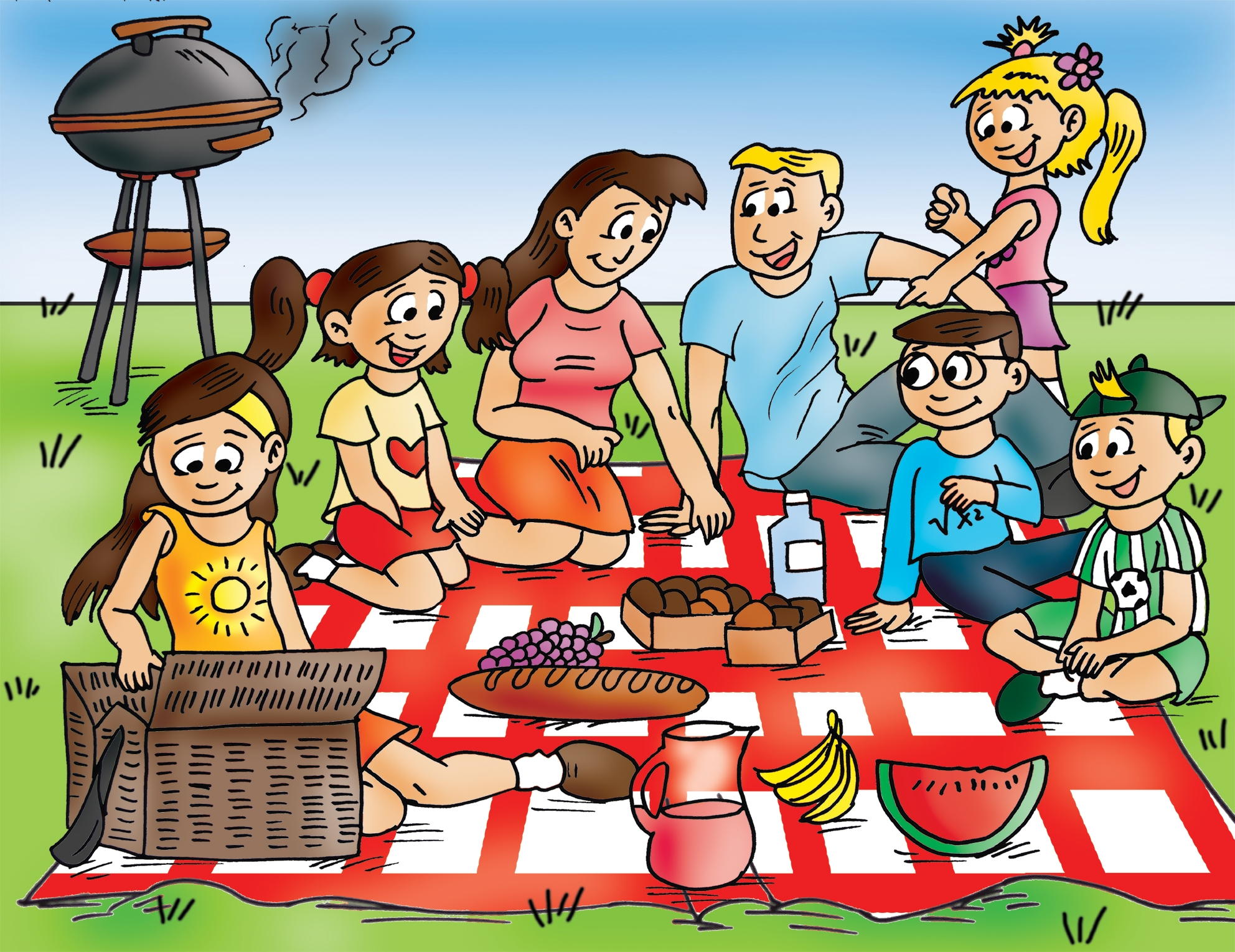 collection of having. Picnic clipart