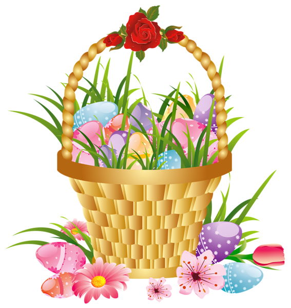 Picnic clipart easter. Forgetmenot baskets with eggs