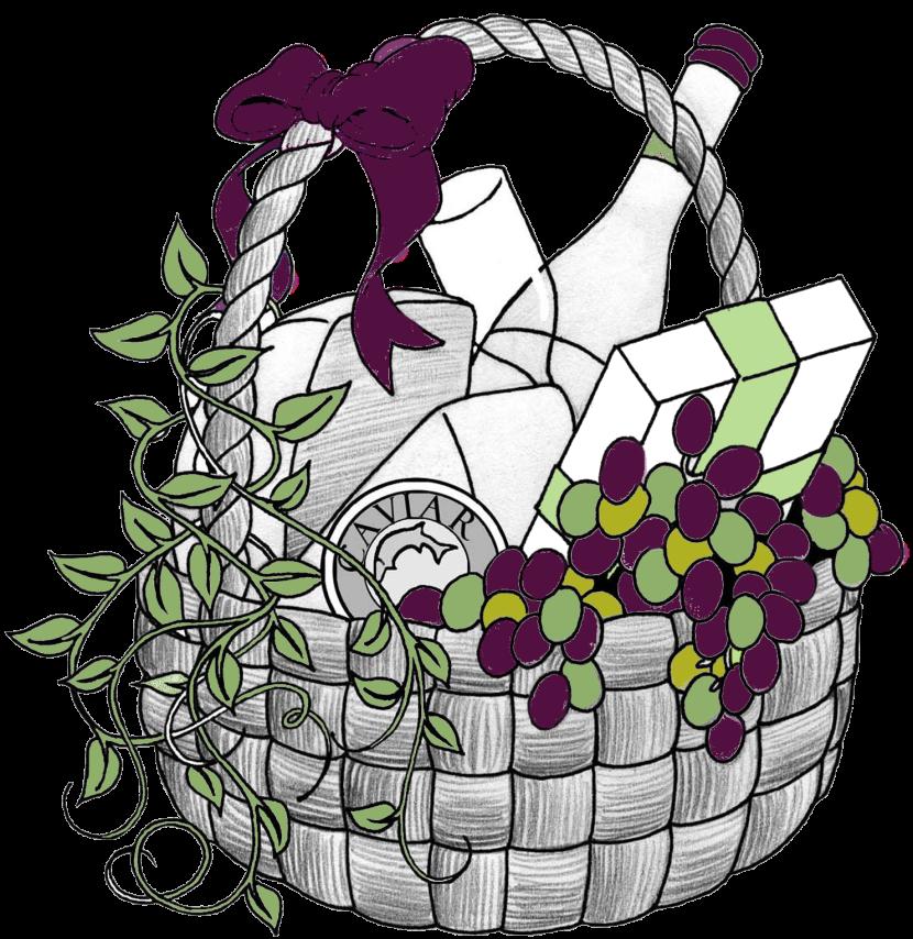 Wine picnic clip art. Raffle clipart cute