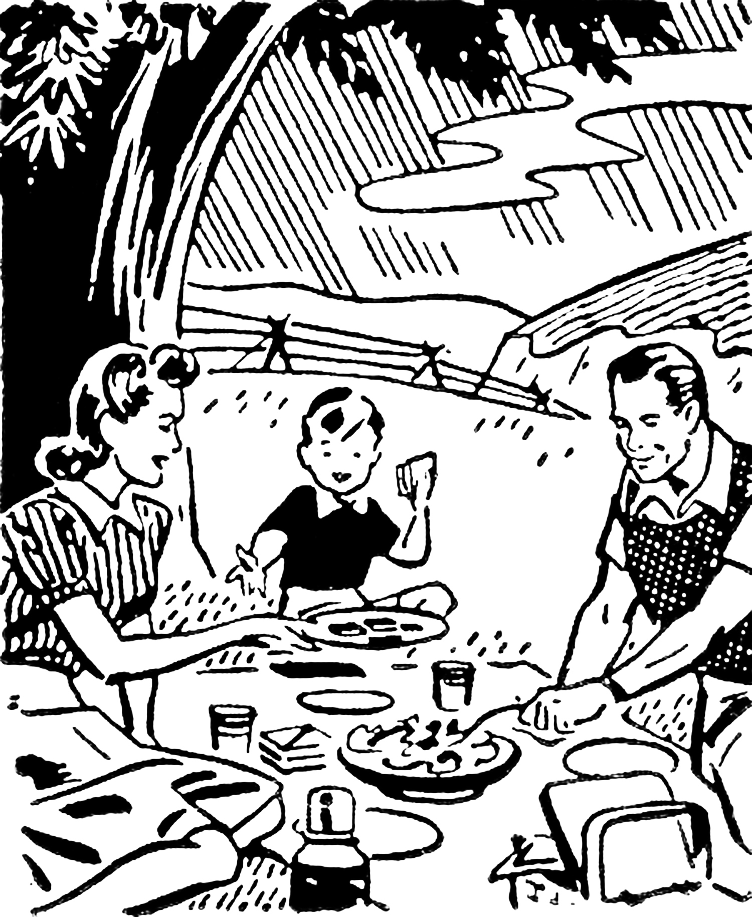 Retro clipart summer. Images picnic drive the