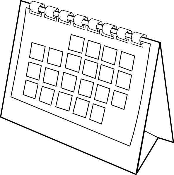 Calendar clip art at. Schedule clipart clander