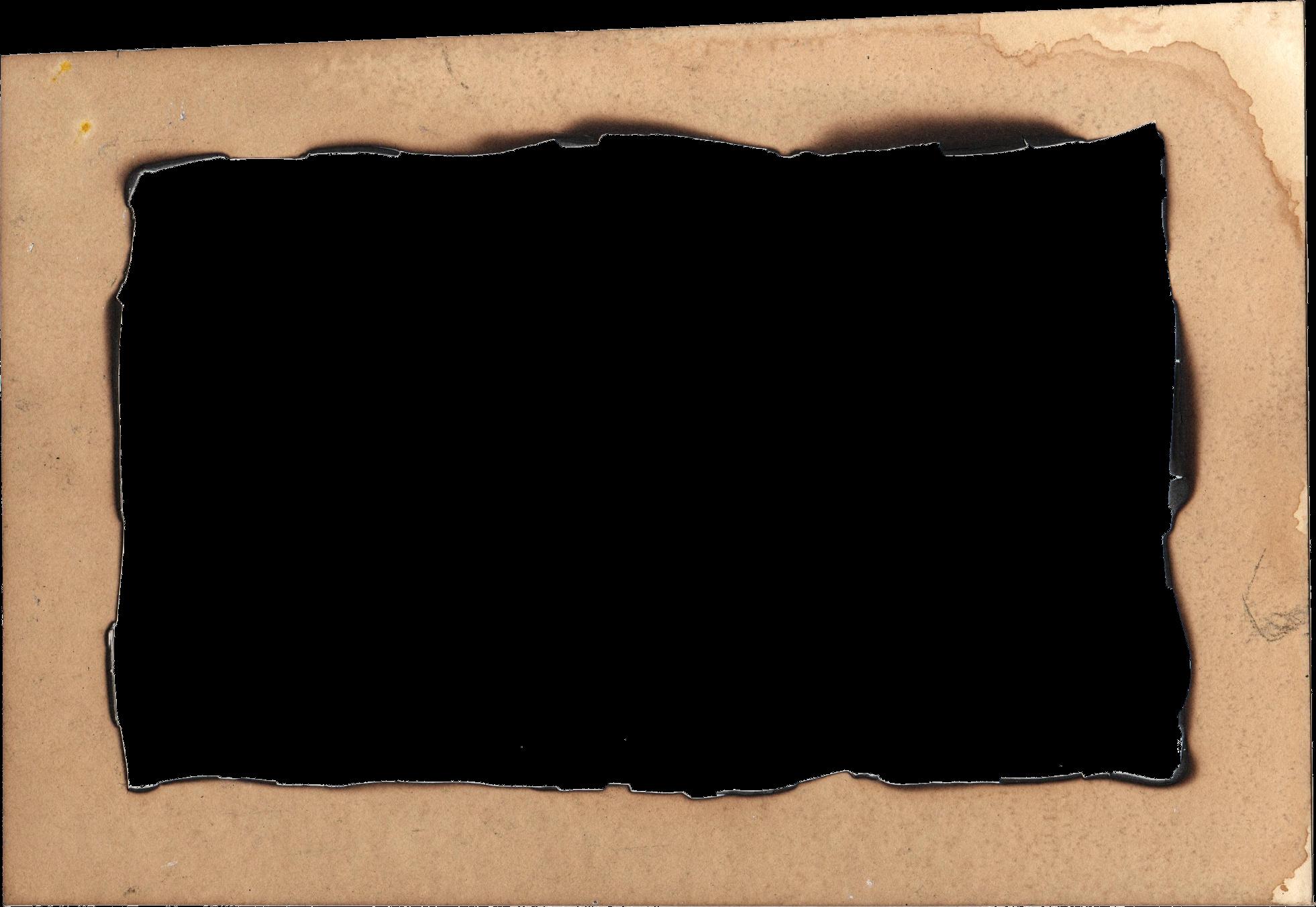 Picture frame png.  burn old paper