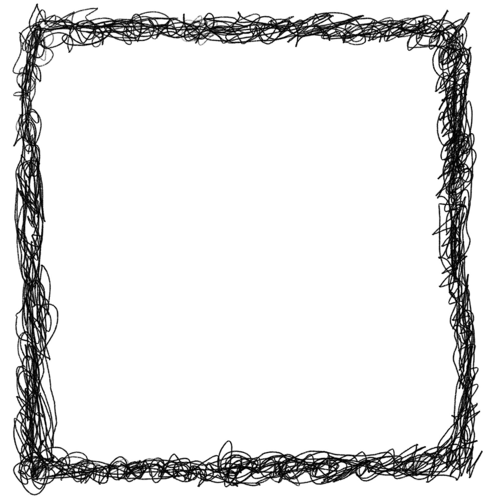 square scribble transparent. Picture frame png