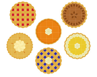 Pie clipart. Etsy yummy whole pies