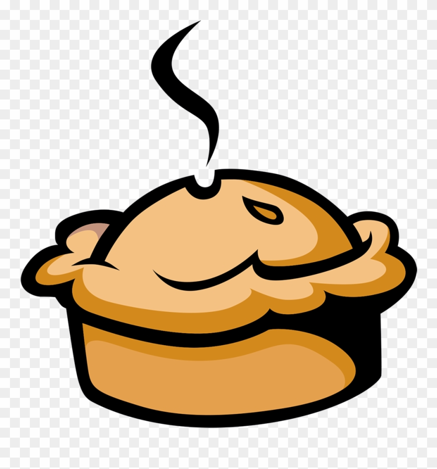 Pies hot and cartoon. Peas clipart pie