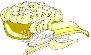And cream royalty free. Pie clipart banana pie