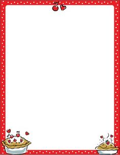 Page clip art library. Pie clipart border