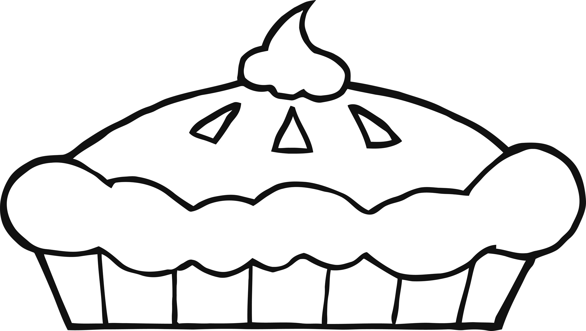 Pie clipart coloring page. Free download clip art