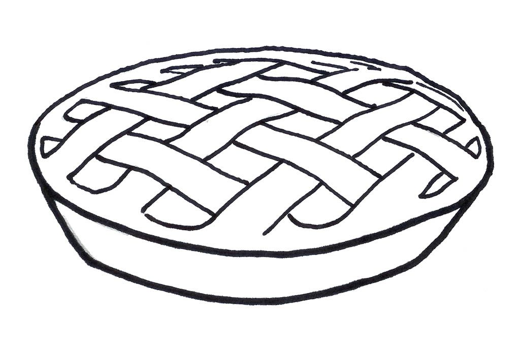 Pages home . Pie clipart coloring page