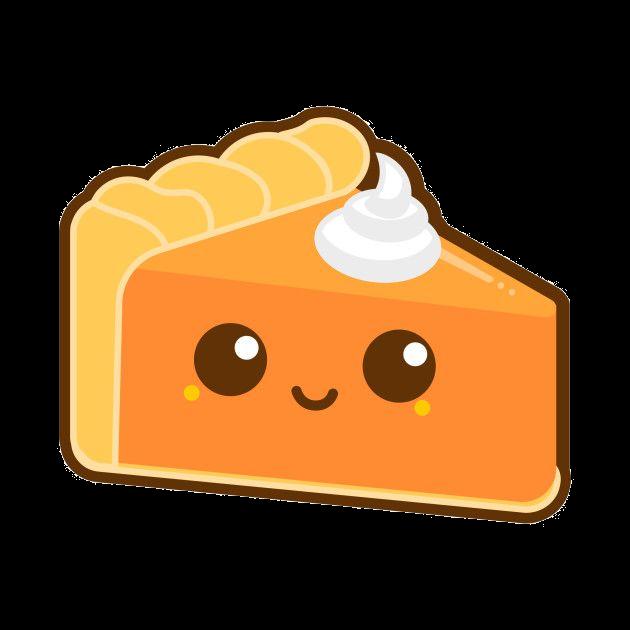 Pumpkin adorable for free. Pie clipart cute