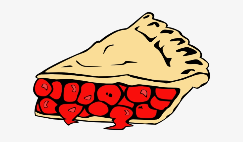 Pie clipart fruit pie. Pies cherry black and
