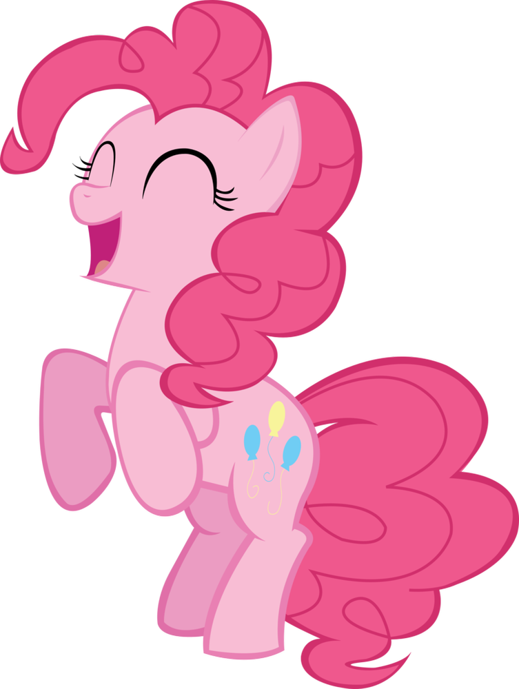 Pie clipart happy. Pinkie reacting with transparent