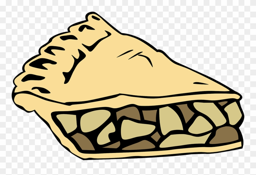 Cake apples slice piece. Pie clipart pastry