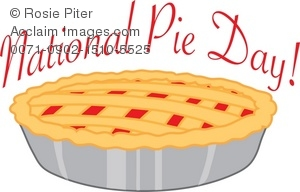Pie clipart pie day. Illustration of a national