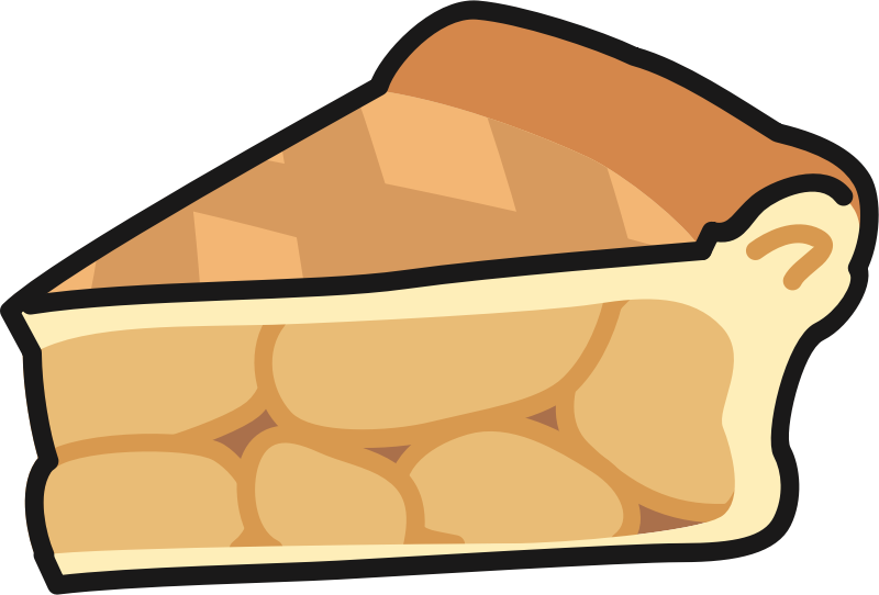 Pie clipart slice pie. Apple medium image png