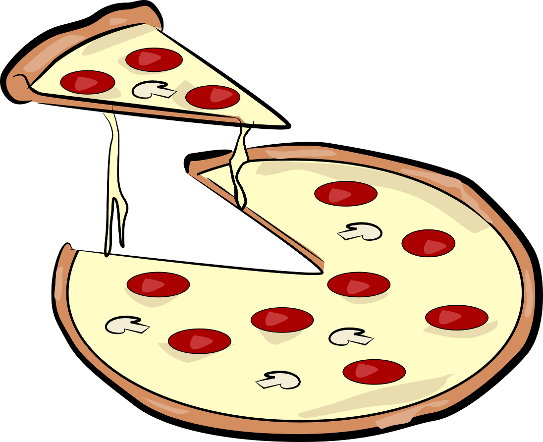 Pie clipart sliced pie. Pizza clip art hanslodge