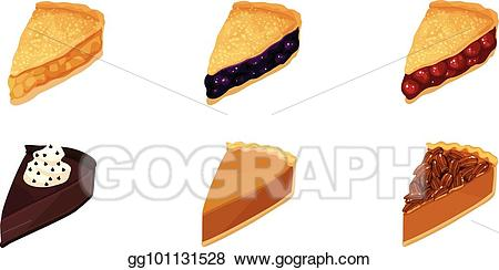 Pie clipart sliced pie. Vector art slices drawing