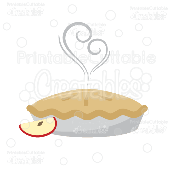 Yummy apple cut file. Pie clipart svg