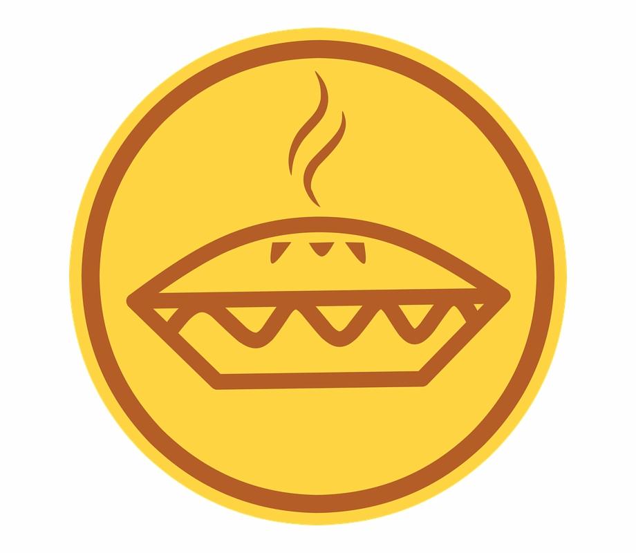 Apple icon sign design. Pie clipart tasty food